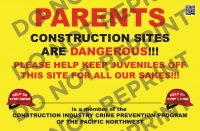 "13"" X 20"" Parent Alert Sign"